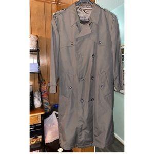Men gray trench coat